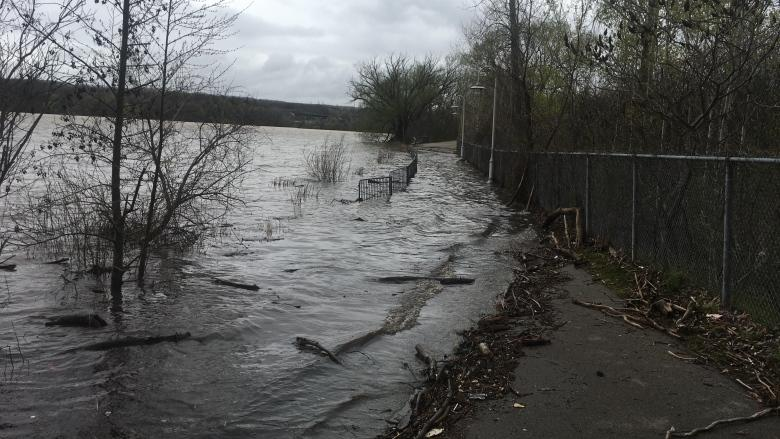 Dundas suffered flooding, mud slides when a full month of rain fell in 1 day