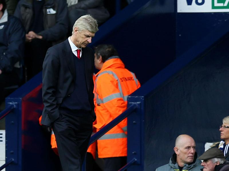 Arsene Wenger watched his team capitulate against West Brom: Getty