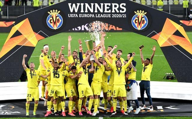 Villarreal beat Manchester united on penalties in the Europa League final in May (Rafal Oleksiewicz/PA).