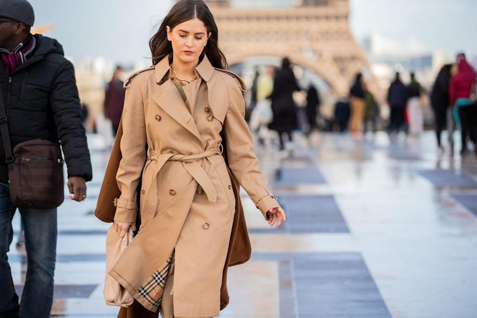 <p>A classic trench coat is a wardrobe must-have. This iconic item is never going out of style.</p>