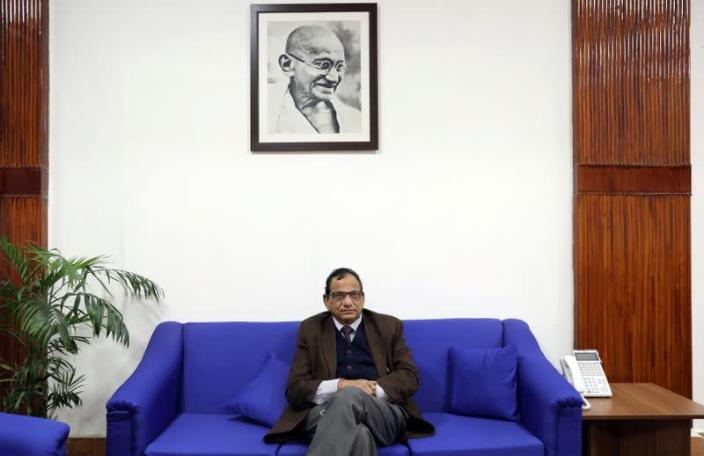 Dr. Vinod K. Paul poses for a picture at his office in New Delhi