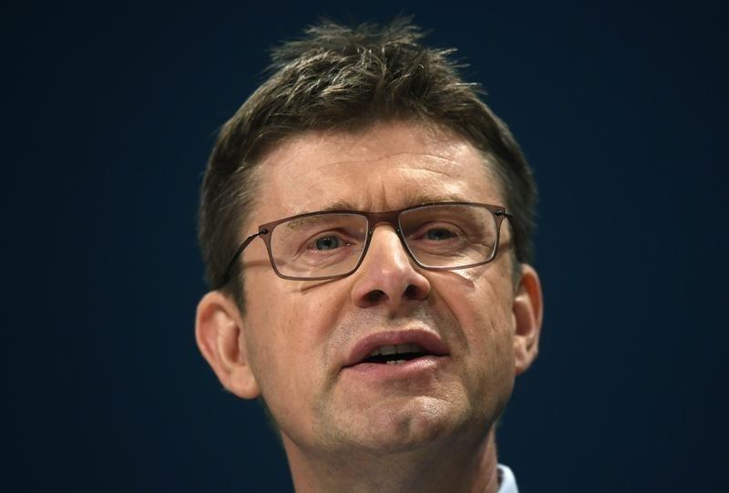 Britain's Business Secretary Greg Clark speaks at the Conservative Party conference in Birmingham, Britain October 3, 2016. REUTERS/Toby Melville/File Photo
