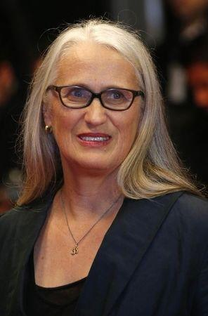 """Director Jane Campion, member of the Jury Cinefondation, poses on the red carpet as she arrives for the screening of the film """"Only God Forgives"""" in competition during the 66th Cannes Film Festival in Cannes May 22, 2013. REUTERS/Yves Herman"""