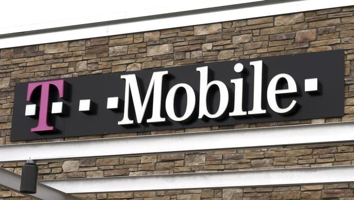 The T-Mobile store sign is seen in Broomfield, Colorado