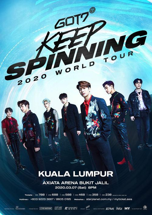 "The ""Keep Spinning"" tour begun in June 2019, and will end on 28 March in Taipei, the last city after Malaysia."