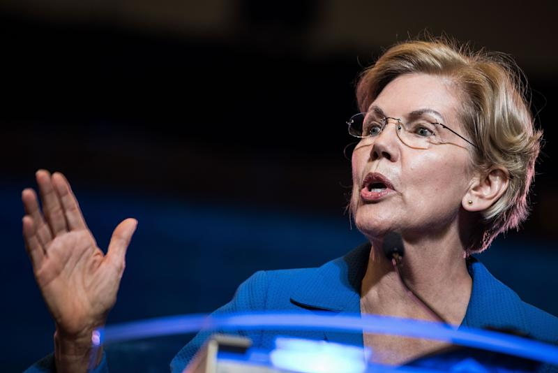 Sen. Elizabeth Warren (D-Mass.) had not previously voiced support for decriminalizing unauthorized border crossing.  (Photo: Sean Rayford via Getty Images)