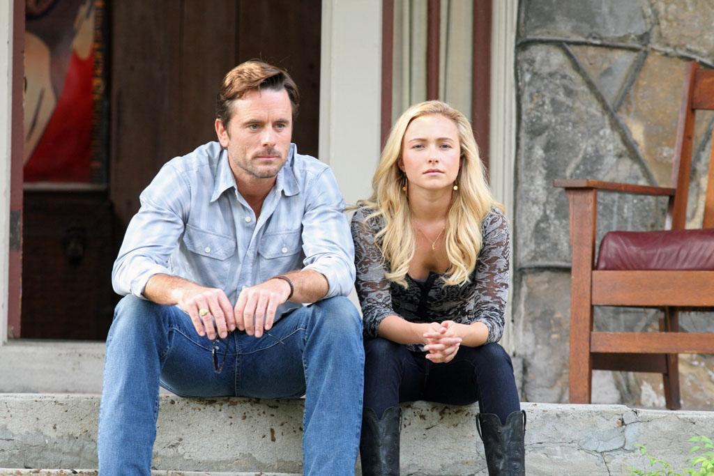 "Charles Esten and Hayden Panettiere in the ""Nashville"" episode, ""Move It on Over."""