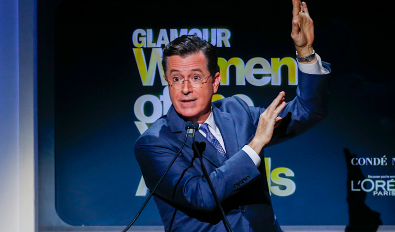 Stephen Colbert compares 'InfoWars' Alex Jones to 'coked out football coach' on 'The Late Show.'