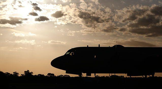 A Japanese Air Force plane at the RAAF base in Perth in 2014. Source: Getty Images