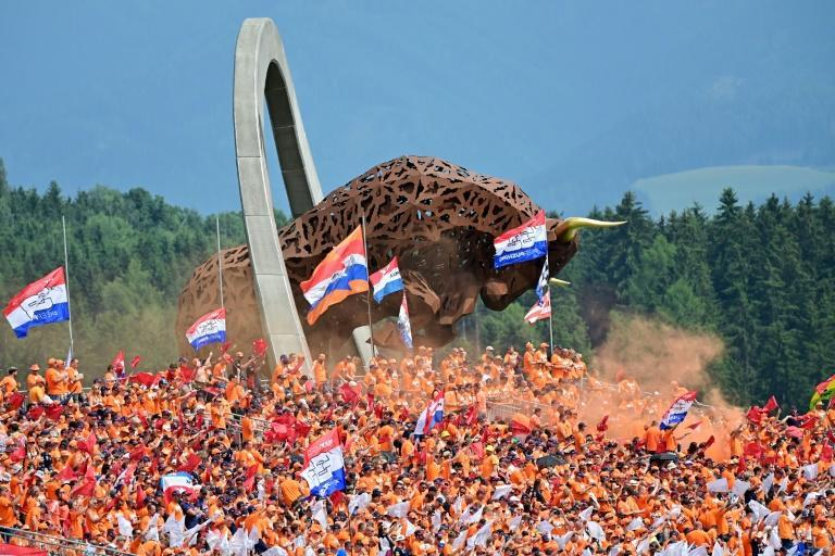 Verstappen's Dutch supporters provided a carnival atmosphere at the track owned by his Red Bull team