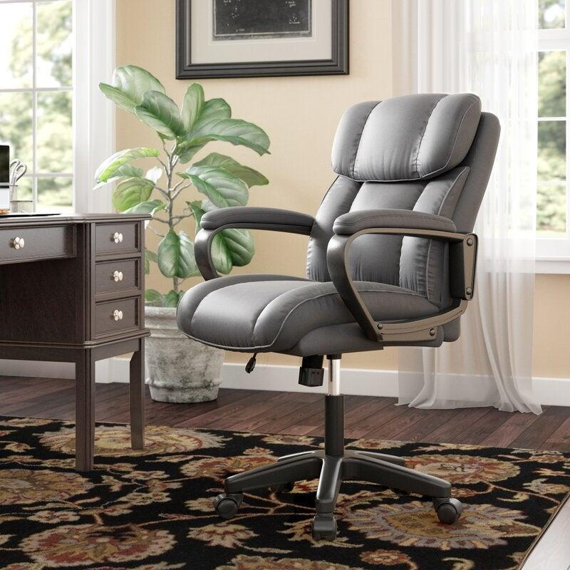 "<h2>Dillsboro Executive Chair<br></h2><br><strong>Discount:</strong> 45% off<br><br><strong>The Hype: </strong>4.5 out of 5 stars and 1,530 reviews<br><br><strong>Deal Hunters Say: </strong>""This was extremely easy to put together. The chair itself is comfortable for a long day's work. The back support is good, it rolls fairly well on carpet, and the price was very reasonable. I will definitely recommend this chair.""<br><br><em>Shop <strong><a href=""https://fave.co/3dIVa5b"" rel=""nofollow noopener"" target=""_blank"" data-ylk=""slk:Winston Porter"" class=""link rapid-noclick-resp"">Winston Porter</a></strong></em><br><br><br><br><strong>Winston Porter</strong> Dillsboro Executive Chair, $, available at <a href=""https://go.skimresources.com/?id=30283X879131&url=https%3A%2F%2Ffave.co%2F2JkRbkR"" rel=""nofollow noopener"" target=""_blank"" data-ylk=""slk:Wayfair"" class=""link rapid-noclick-resp"">Wayfair</a>"