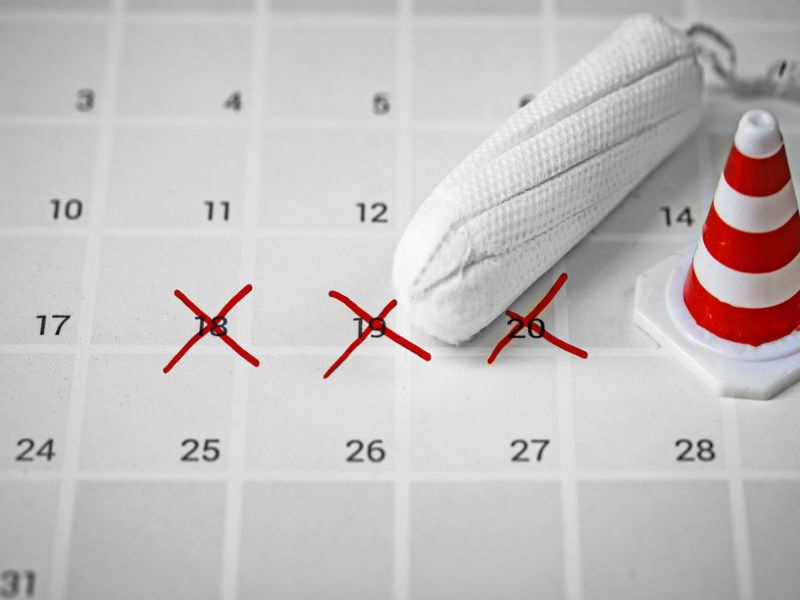 You are not tracking your period cycle