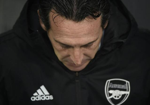 Arsenal's underfire manager Unai Emery is hoping victory over Eintracht Frankfurt and ending their six game run without a win will begin the process of winning back the fans (AFP Photo/MIGUEL RIOPA)