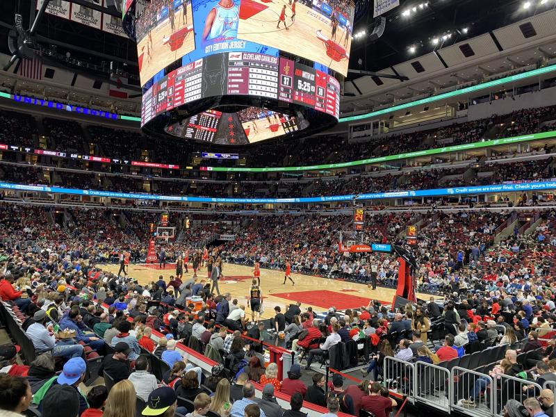 The United Center crowd for Bulls-Cavs on Tuesday. (Henry Bushnell/Yahoo Sports)
