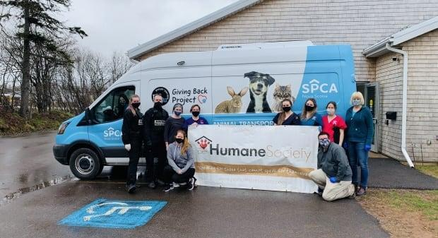 Nova Scotia and P.E.I. governments approved the transfer and early on Tuesday a staff member with the Nova Scotia SPCA drove the 14 dogs over.