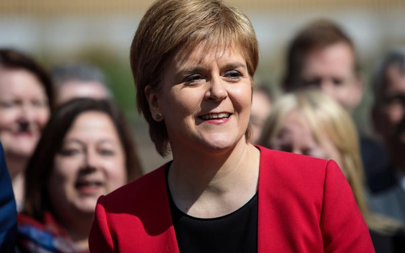 Nicola Sturgeon last week supported a 'progressive alliance' with Labour but predicted Mr Corbyn would not win the number of seats required to keep out the Tories - Credit: Getty Images
