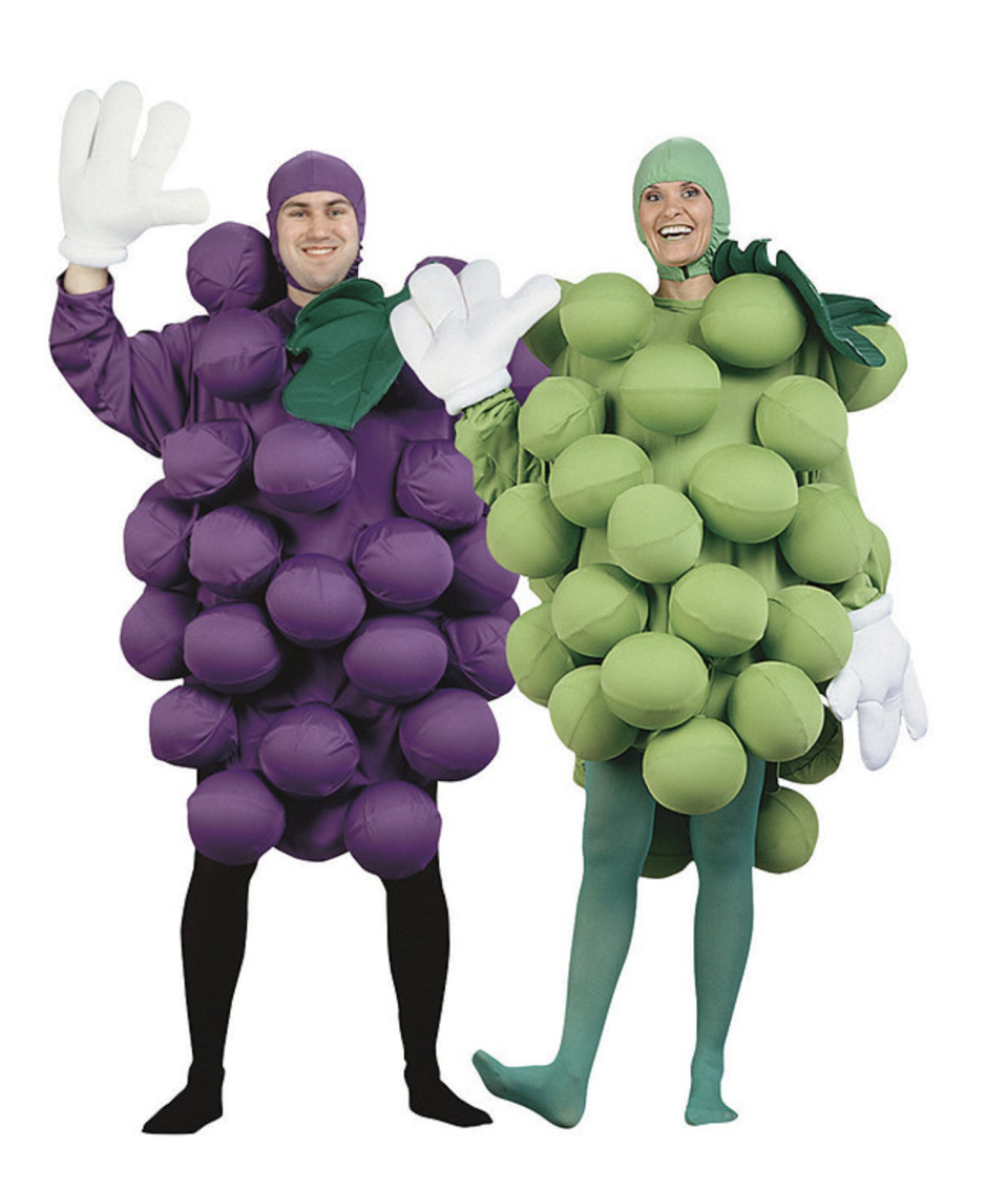 purple and green Grapes Couples halloween Costumes