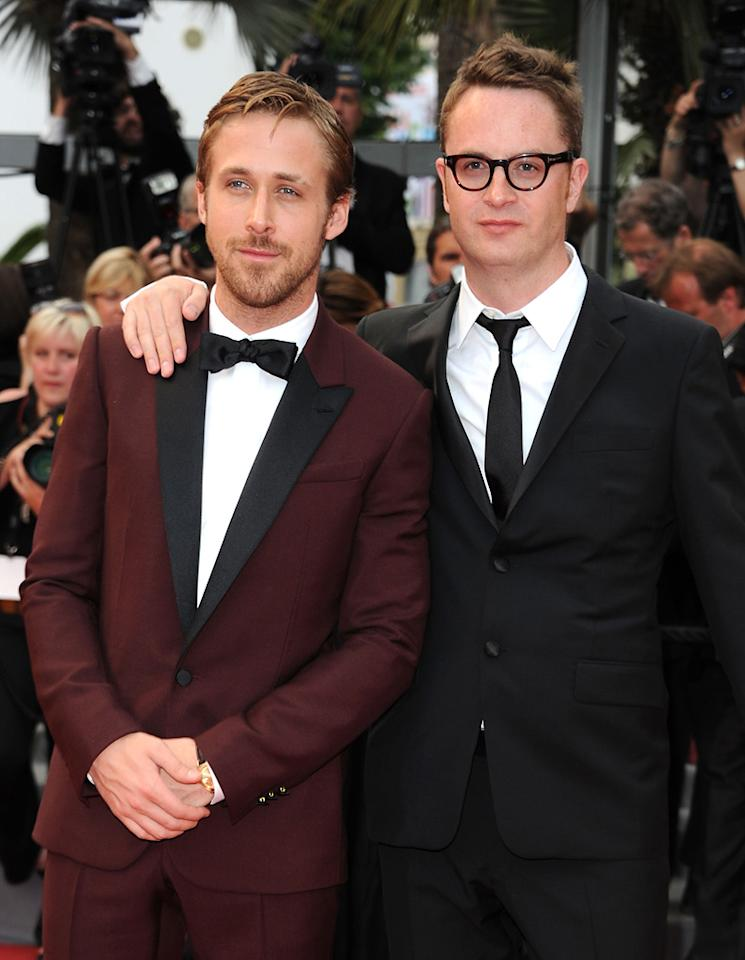 """<a href=""""http://movies.yahoo.com/movie/contributor/1804035474"""">Ryan Gosling</a> and <a href=""""http://movies.yahoo.com/movie/contributor/1800024125"""">Nicolas Winding Refn</a> attend the 64th Annual Cannes Film Festival premiere of """"Les Bien-Aimes"""" on May 22, 2011."""