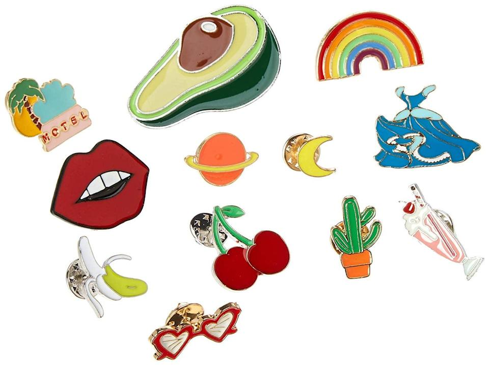 <p>These playful <span>Souarts Enamel Pins</span> ($11, originally $12) make a great addition to a jean jacket, backpack, or t-shirt.</p>