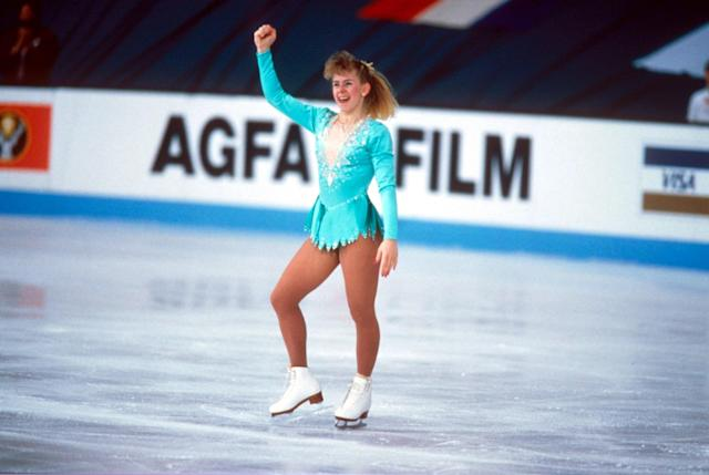 <strong>Tonya on the ice at the 1991 World Championship</strong> (Sipa Press/REX/Shutterstock)