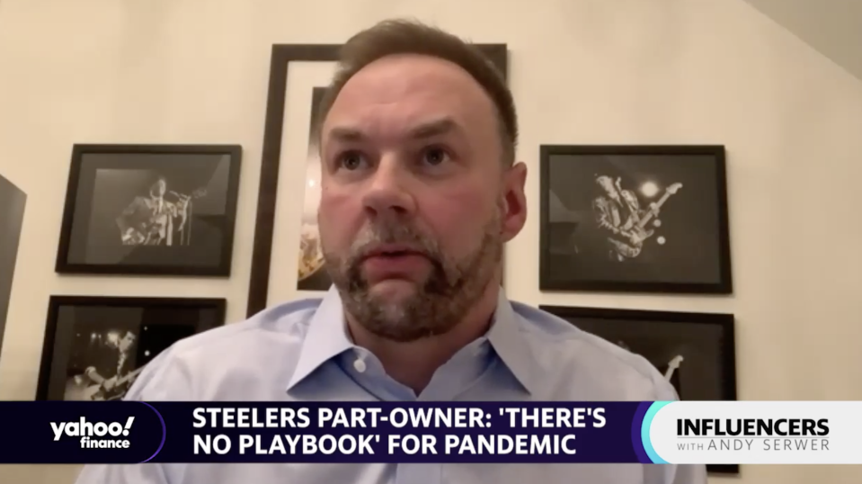 Pittsburgh Steelers minority owner Thomas Tull speaks with Yahoo Finance Editor-in-Chief Andy Serwer on
