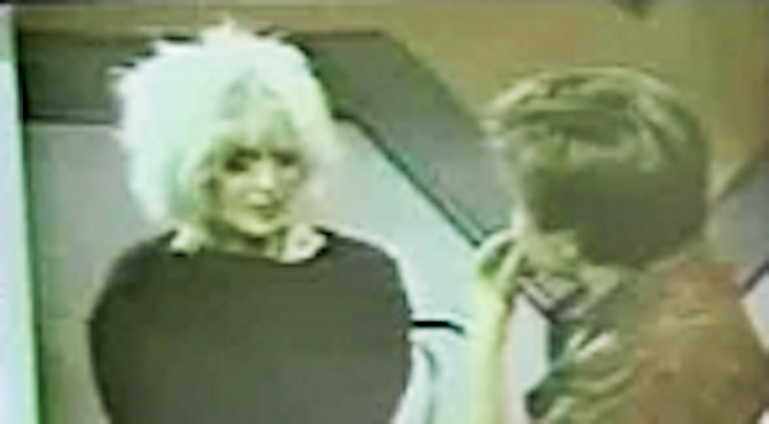 A hazy screenshot of Nina Blackwood and Jason Bateman on 'It's Your Move' in 1985. (Photo: YouTube)
