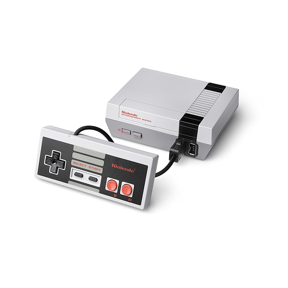 "<p>""I am more obsessed than ever with my NES Classic Edition system. It has some classic Nintendo games—<em>Super Mario Bros</em>, <em>The Legend of Zelda</em>, <em>Metroid</em>, and my absolute favorite <em>Bubble Bobble</em>—that transport me back to my adolescence. I think we are all looking for an escape and something that reminds us of happier and less complicated times and this does it for me."" —<em>Rozalynn Frazier, interim special projects director</em></p> <p><strong>Buy it:</strong> $158, <a href=""https://www.amazon.com/Nintendo-Entertainment-System-NES-Classic/dp/B01IFJBQ1E"" rel=""nofollow noopener"" target=""_blank"" data-ylk=""slk:amazon.com"" class=""link rapid-noclick-resp"">amazon.com</a></p>"