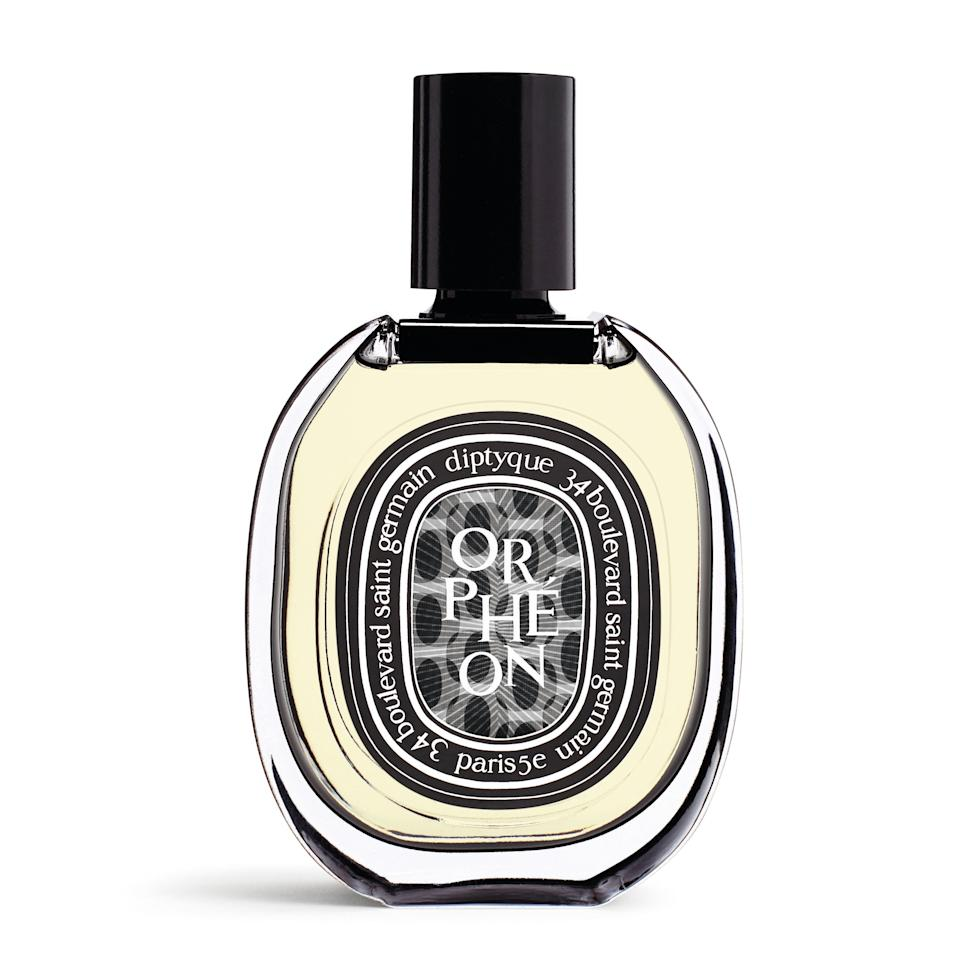 Isn't it astounding how Diptyque keeps coming up with mind-blowingly beautiful fragrances? Its latest, Orphéon, is a 60th-anniversary celebration of how the founders came together at artsy bars in the Parisian '60s. That means notes of tobacco, tonka bean, cedar, and juniper berries — rich and fresh, the way the most lasting friendships always feel.