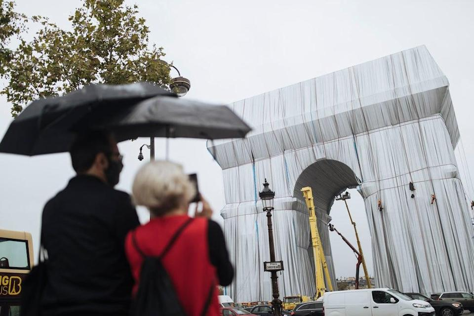 APTOPIX France Arc de Triomphe (Copyright 2021 The Associated Press. All rights reserved)