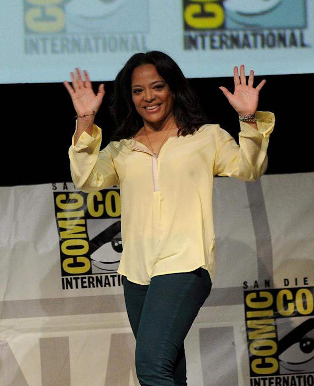 "SAN DIEGO, CA - JULY 18: Actress Lauren Velez speaks onstage at Showtime's ""Dexter"" panel during Comic-Con International 2013 at San Diego Convention Center on July 18, 2013 in San Diego, California. (Photo by Kevin Winter/Getty Images)"