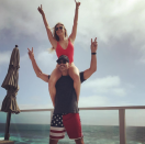 """<p>The singer found that the best perch for her enthusiastic Fourth of July viewing was on hubby Eddie Cibrian's shoulders. They were even color coordinated. (Photo: <a rel=""""nofollow noopener"""" href=""""https://www.instagram.com/p/BWJLFwYBxEr/?taken-by=leannrimes&hl=en"""" target=""""_blank"""" data-ylk=""""slk:Leann Rimes via Instagram"""" class=""""link rapid-noclick-resp"""">Leann Rimes via Instagram</a>) </p>"""