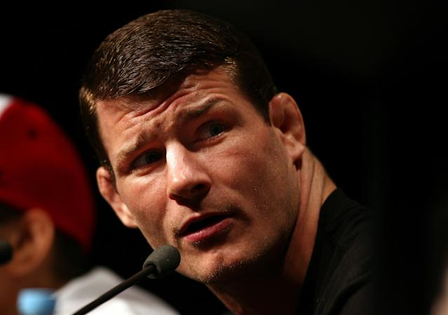 SYDNEY, AUSTRALIA - FEBRUARY 23: Michael Bisping of England speaks during a Press Conference ahead of UFC 127 at Star City on February 23, 2011 in Sydney, Australia. (Photo by Ryan Pierse/Getty Images)