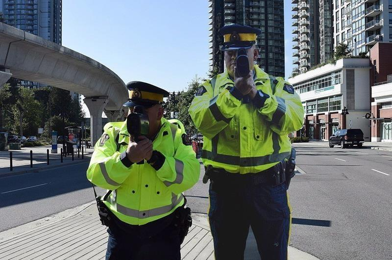 Spooking speeders: Prairie city latest to use police cut-outs on busy roads