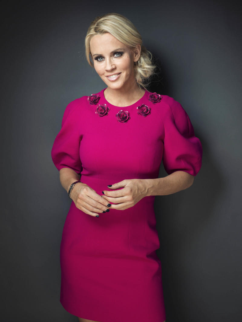 "FILE - This Feb. 4, 2013 file photo shows American comedian, actress, and author Jenny McCarthy posing for a portrait, in New York. The actress and former Playboy playmate was named Monday, July 15, to join the panel of the ABC weekday talk show ""The View."" Barbara Walters, who created ""The View"" in 1997 and has since served as a co-host, made the widely expected announcement on the air. (Photo by Victoria Will/Invision/AP, File)"