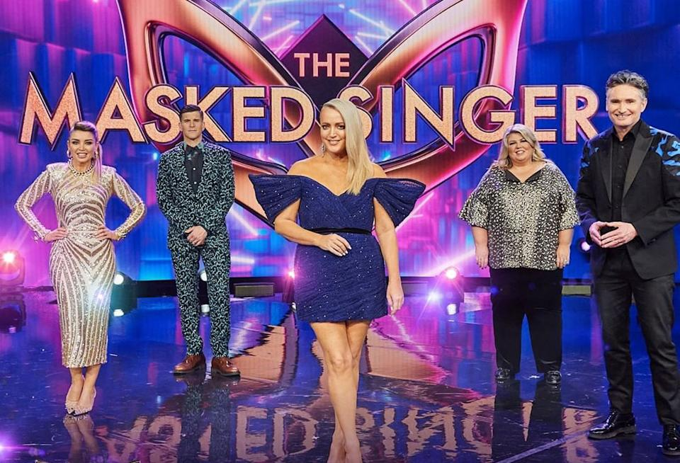 The Masked Singer cast Dannii Minogue, Osher Gunsberg, Jackie O Henderson, Urzila Carlson and Dave Hughes