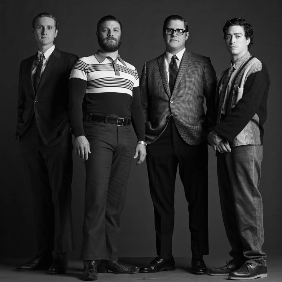 Ken Cosgrove (Aaron Staton), Stan Rizzo (Jay R. Ferguson), Harry Crane (Rich Sommer) and Michael Ginsberg (Ben Feldman) - Mad Men - Season 6