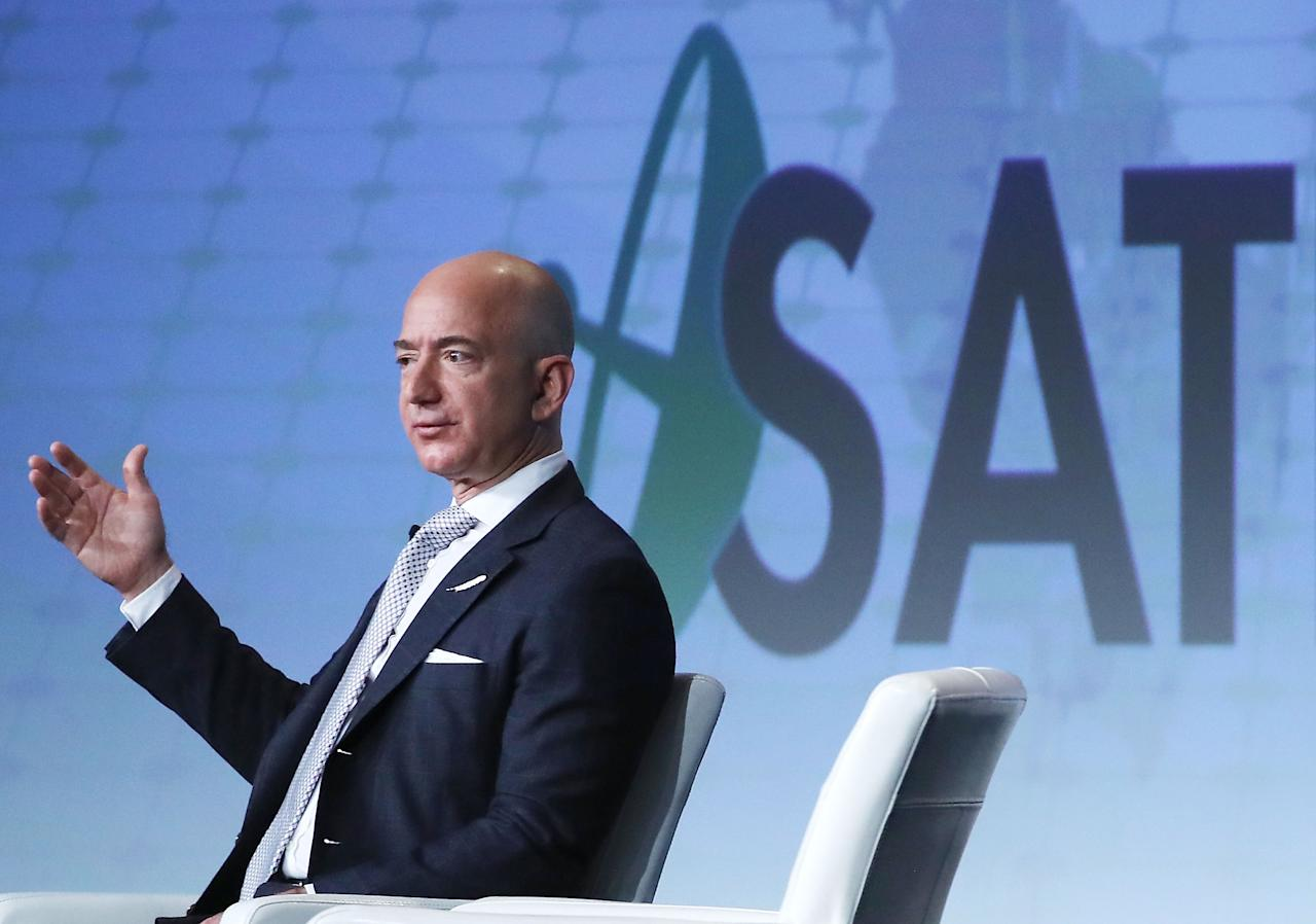 """<p><strong>Space Co:</strong> <a rel=""""nofollow"""" href=""""https://www.blueorigin.com/"""">Blue Origin</a></p><p><strong>Enterprises:</strong> The venture has successfully sent its suborbital spacecraft New Shepard to space six times. Bezos recently unveiled a new rocket engine built to advance the company goal of orbiting people and satellites in space. His direct competition: SpaceX.</p><p><strong>Net worth:</strong> $73.4 Billion<br></p>"""
