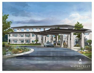 Watercrest Senior Living Group, Corecam Capital Partners and Peninsula Alternative Real Estate announce the groundbreaking of Watercrest Macon Assisted Living and Memory Care.  The premier senior living community will open to residents in Summer 2021.
