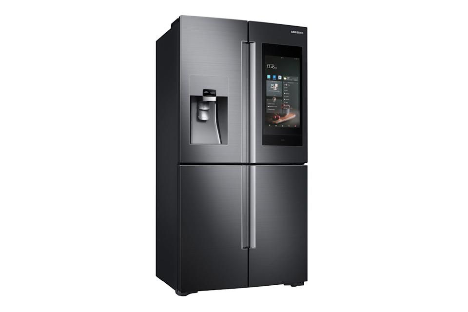 <p>Smart home technology was everywhere at CES – and Samsung unveiled a talking fridge, which can also work as the hub for other smart home gadgets. The fridge comes with a voice assistant built in, AKG speakers, and connects to other appliances. </p>