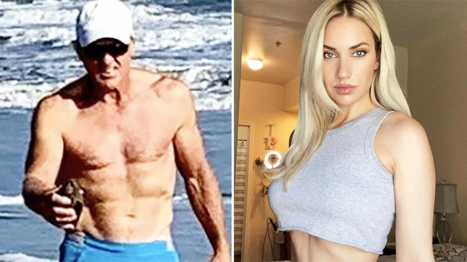 Greg Norman and Paige Spiranac, pictured here on Instagram.