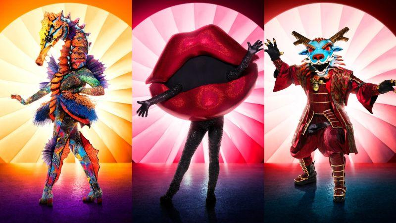 Seahorse, Lips, and Dragon of The Masked Singer (Fox)