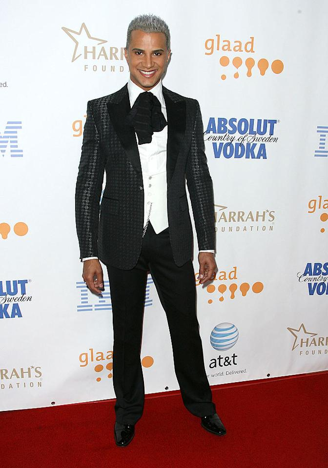 "Jay Manuel, best known for his role on ""America's Next Top Model,"" dons a suit that reminds us a little bit of something that a toned-down Liberace might wear. Jordan Strauss/<a href=""http://www.wireimage.com"" target=""new"">WireImage.com</a> - April 26, 2008"