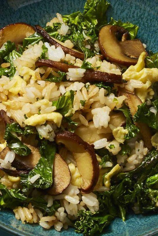 """<p>No need to order takeout tonight – instead, save money by whipping up your own. This one-pan recipe costs only $2.18 a serving and can be on the table in just under a half hour. </p><p><em><a href=""""https://www.womansday.com/food-recipes/food-drinks/a26346030/vegetarian-fried-rice-recipe/"""" rel=""""nofollow noopener"""" target=""""_blank"""" data-ylk=""""slk:Get the Vegetarian Fried Rice recipe."""" class=""""link rapid-noclick-resp"""">Get the Vegetarian Fried Rice recipe.</a></em></p>"""
