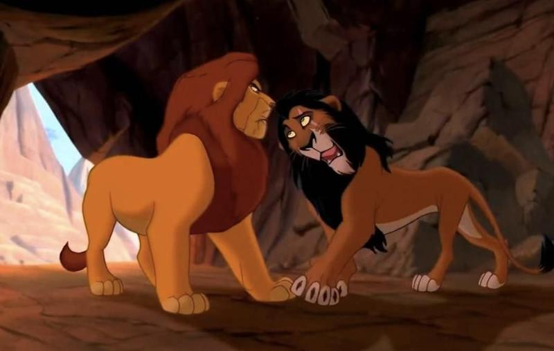 Scar and Mufasa are NOT blood-related. WHAT?! Source: Disney