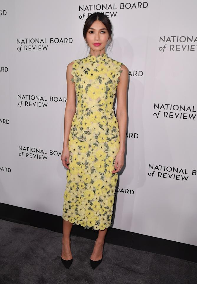 <p>Gemma Chan is quickly becoming one of our favourite style stars. On January 8, the actress gave us fashion envy once more in a floral midi dress by Erdem. Bring on spring… <em>[Photo: Getty]</em> </p>