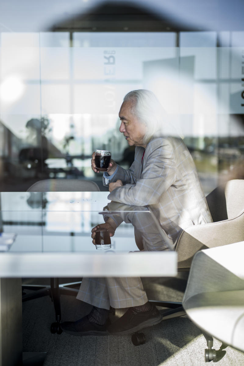 Dr. Michio Kaku during an interview at the 2019 Ufology World Congress in Barclelona, Spain. (Photo: José Colon for Yahoo News)