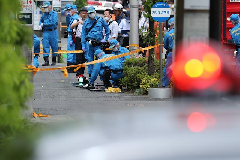 The rampage in the town south of Tokyo on Tuesday morning killed two people, including an 11-year-old schoolgirl (AFP Photo/JIJI PRESS)