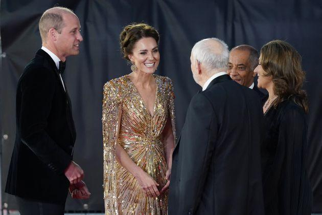 The royals work the carpet. (Photo: Jonathan Brady - PA Images via Getty Images)