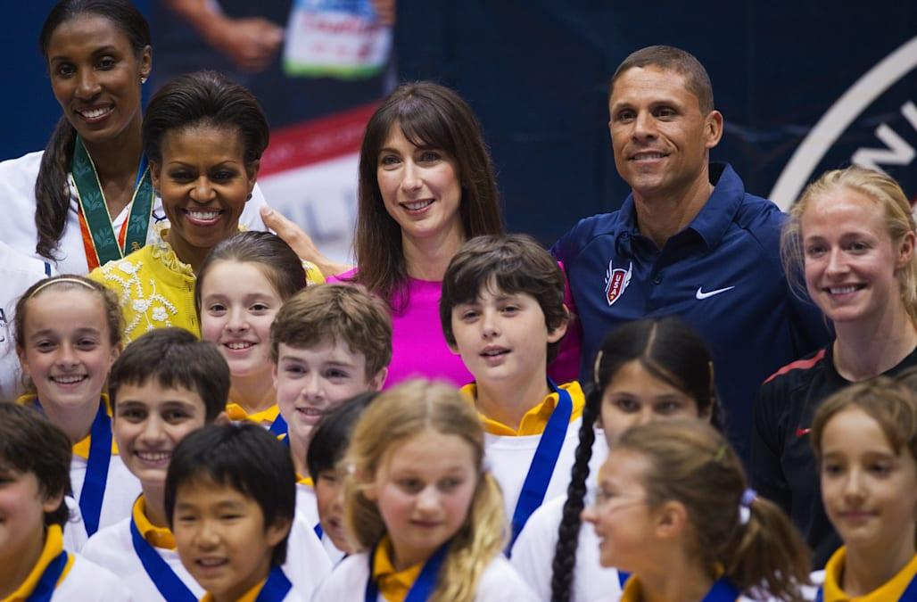 From left: Former WNBA basketball player