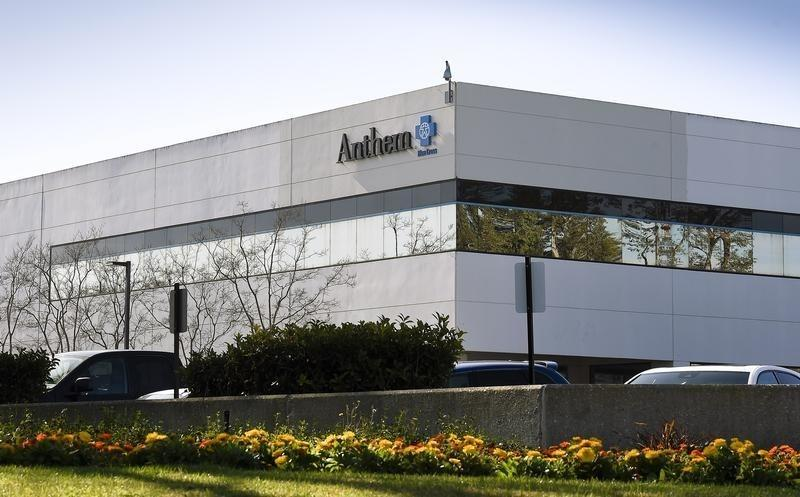 The office building of health insurer Anthem is seen in Newbury Park, California